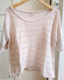 Et Cetera Oversized Pink Knitted Sweater