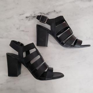 Franco Sarto Black Gladiator Sandals