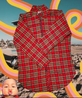 High Fashion Outer Tartan Pattern