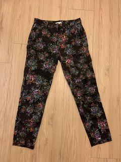 H&M flower printed trousers 九分褲