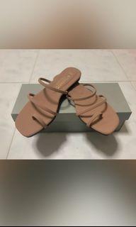 Mauve Strap Sandals