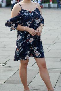 MDS Collections Singapore Floral Off Shoulder Dress
