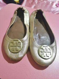 Original Tory Burch Minnie Travel Ballet Flat (Spark Gold)