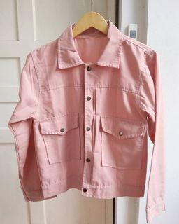 Pink Chic Button Up Jacket