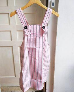 Pink Stripes Overall