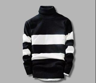 Turtleneck sweater lengan panjang