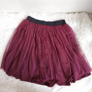 Tutu Maroon Glitter Skirt