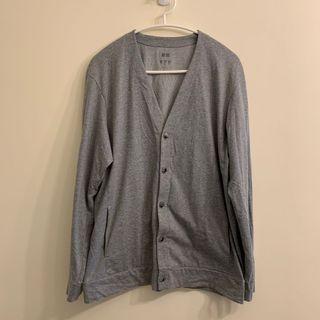 Uniqlo 抗UV 防曬 涼感 快乾 開襟衫 灰色 L號 #618