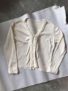 Vintage Creme Cardigan