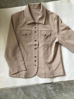 Vintage Khaki 9 Buttons Shirt