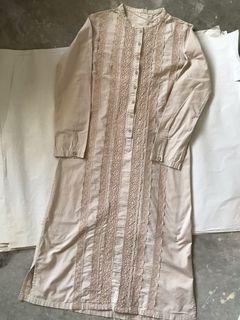 Vintage Long Dress with Lace Details