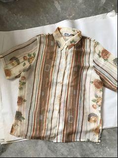 Vintage Sheer Printed Top