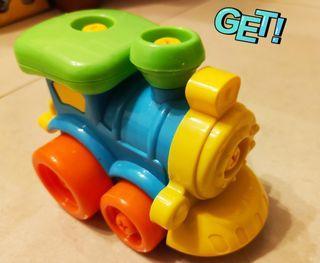 小火車 動手組合 訓練手部肌肉#防疫