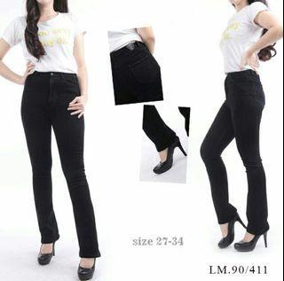 celana hitam high waist cutbray