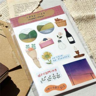 Cozy Life Journaling Sticker Sheet