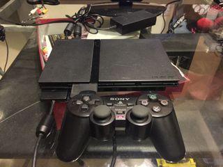 [EL049-1] #防疫  PS2 Slim 主機 + 有線遙桿* 1 + 正版鬼武者3 遊戲片 + 8M的儲存卡x 1 個。