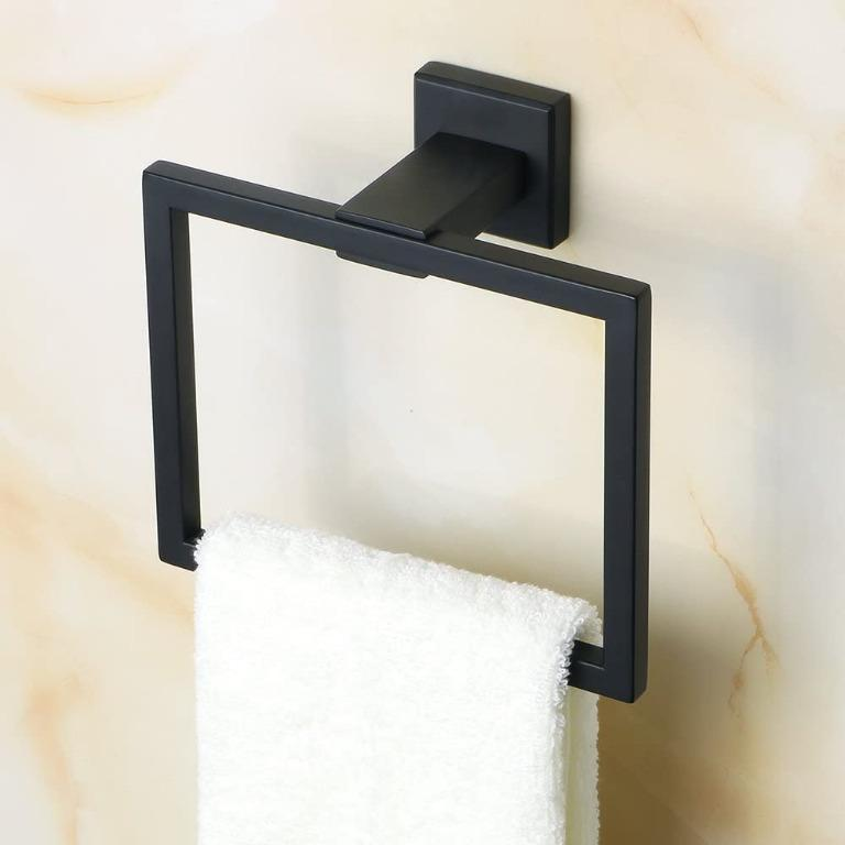 SAYAYO Suction Cup Style Towel Ring Towel Holder for Shower Bathroom or Kitchen,