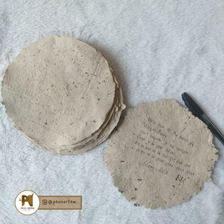 [Handmade Paper Rounded] Kertas Daur Ulang - Aroma Teh