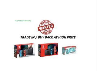 High Cash Switch PS4 Trade In / Buy Back  Nintendo Console