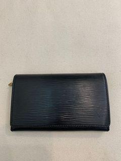 LV 黑色水波紋中夾 真品裸包