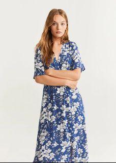 New !! Mango Floral Print Wrap Dress