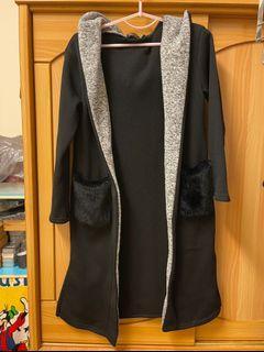 日本三井outlet購入/長版大帽子棉外套/多件便宜賣