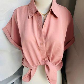 Pink Formal Kemeja / Baju pergi santai