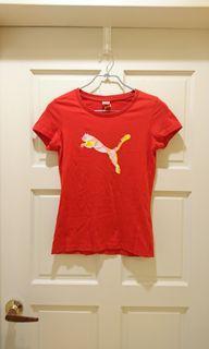PUMA 飛躍的豹法拉利紅T恤#防疫