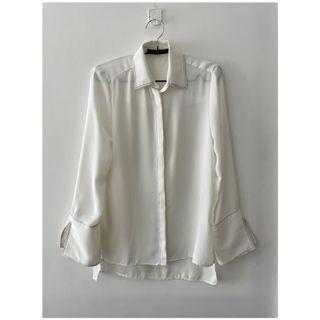 Zara 手袖開衩壓明線襯衫