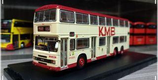 P&T 巴士模型 九巴 Leyland Olympian 12M 3BL1 CV184 KMB 112(北角) 1/76 #非龍運 城巴 新巴 中巴