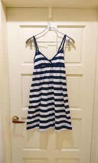 #防疫 (美國牌)aeropostale 藍白橫條洋裝