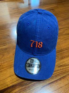 二手 NEW ERA 9Forty 718 Brooklyn NY 9Forty 布魯克林 紐約 區域碼 老帽 帽子 美國職棒 可調式