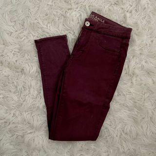 american eagle sateen jegging (size 4)