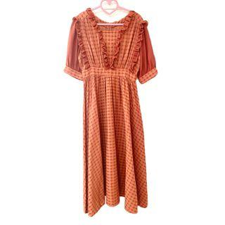 Dress ::: 原創小眾設計法式優雅復古收腰洋裝