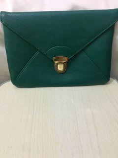 Emerald Green Clutch/crossbody