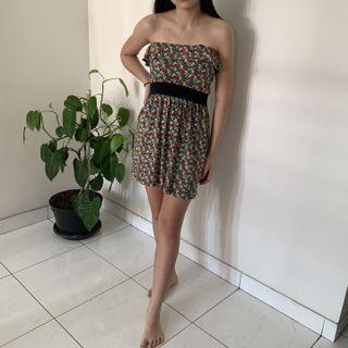 Forever 21 - floral ruffle mini dress