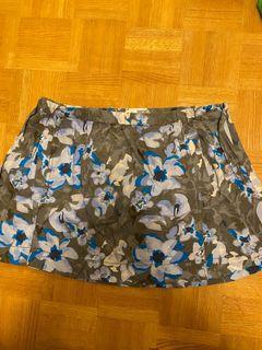 Garage flower print mini skirt