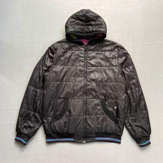 Jaket reversible element jaket black colorblock size M ori original