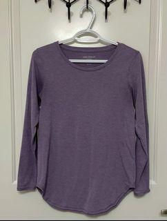 JOE FRESH ACTIVE Purple Long Sleeved Shirt