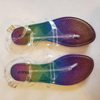 Just Fab Clear Sandals