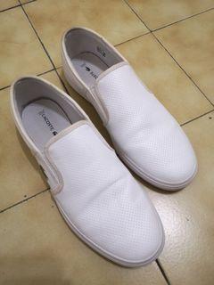 Lacoste 休閒鞋 白鞋 無鞋帶