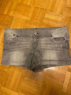 Like new grey denim shorts