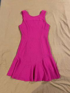 Miss selfridge slim cut flounce dress