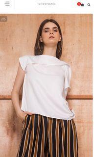 Morningsol  - White liam blouse asymmetrical top