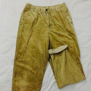 Olive Corduroy Pants UNISEX