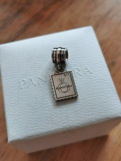 Pandora UK stamp dangle charm