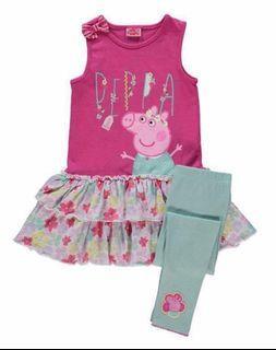 英國Peppa Pig 連身裙 leggings 套裝