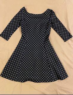 Polkadot  slim cut, A line dress