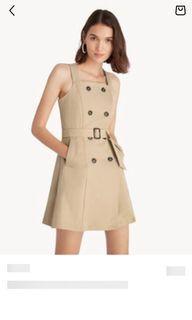 Pomelo Mini Multi button belted dress Brown