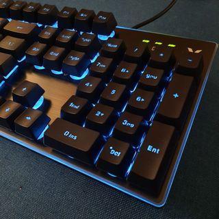 RAPOO V58 USB 藍燈背光 仿機械 遊戲鍵盤 Backlit Gaming Keyboard